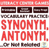 Synonym, Antonyms, and Not Related Word Sort