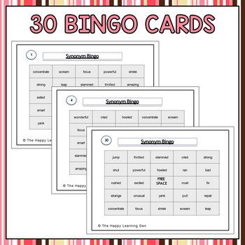 Synonym BINGO (Two Games in One)