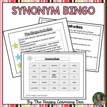 Synonym BINGO (Two Games in One)