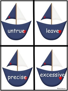 Synonym Bears Literacy Center- Nautical Theme