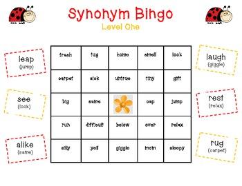 Synonym Bingo Bundle!