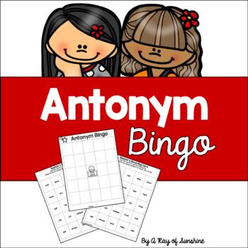 Antonym Bingo Game