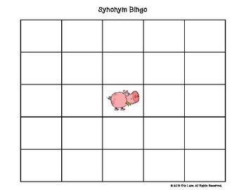 Synonym Bingo Level Two