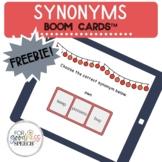 Synonym Boom Cards™ NO PRINT Flashcards | #slpboomforfree