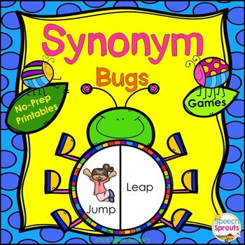 Synonym Bugs! Speech Therapy Games and No Prep Activities
