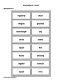 Synonym Cards - Montessori Material