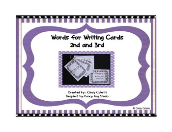 Synonym Cards: Words for Writing- 2nd/3rd Grade