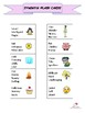 Synonym Cards and Worksheet