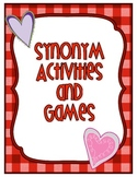 Synonym Cards with Activities and Games