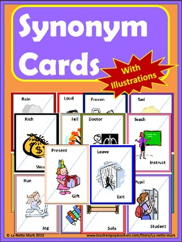 Synonym Cards with Illustrations