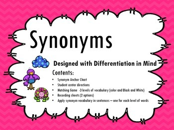 Synonym Center - Designed with Differentiation in Mind