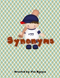 Synonym Center Game, Hallway Cards, Worksheets