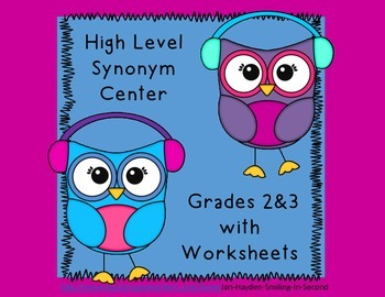 Synonym Center- High Order Words- Grades 2&3 Winter Theme