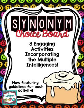Synonyms Choice Board