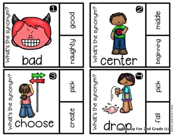 Synonym Clip Cards