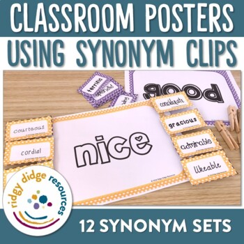 Synonym Clip Posters - Words To Use Instead Of...