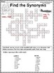 Synonym Crossword Puzzles