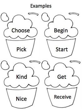 Synonym Cupcakes