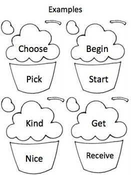 Synonym Cupcakes