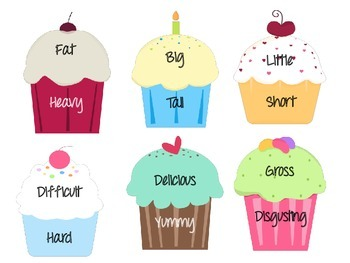 Synonym Cupcakes - 48 Pairs of synonyms in a fun matching