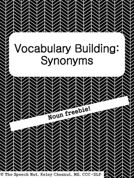 Synonym Cut & Paste Freebie