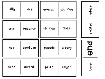 Synonym Dominoes (7 games!)