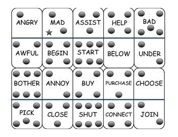 Synonym Dominoes Game - Basic Level