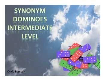 Synonym Dominoes Game - Intermediate Level
