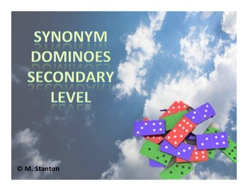 Synonym Dominoes Game - Secondary Level