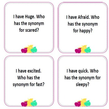 Synonym Edition- I have Who Has