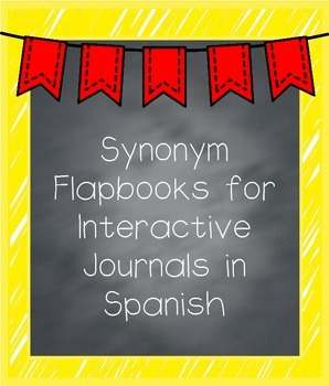 Synonym Flapbooks in Spanish