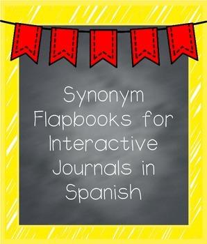 Synonym Flapbooks in Spanish