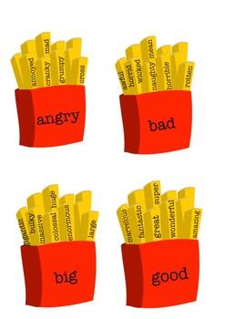 Synonym Fries Display