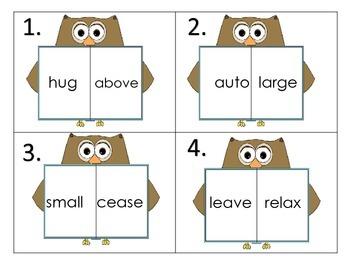 Synonym Fun--Owl Theme