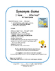 Synonyms | TASK CARDS | GAME | I Have, Who Has? | + Crossw