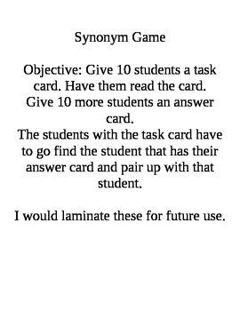 Synonym Game