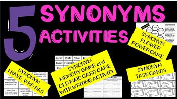 Synonym Activities