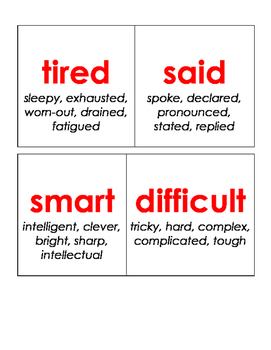 Synonym Guessing Game