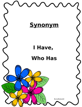 Synonym: I Have, Who Has