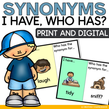 I Have Who Has Synonym Class Game