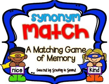 Synonym Match {A Memory Game}