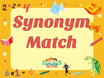 Synonym Match Game - Differentiated Literacy Center Activity