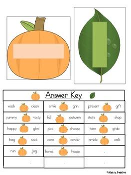 Synonym Match Halloween Theme