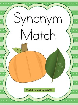 Synonym Match Halloween Theme