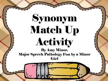 Speech Therapy: Synonym Match Up