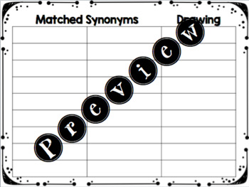 Synonym Match and Draw
