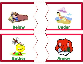 Synonyms - Matching Cards for Diverse Learners