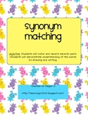 Synonym Matching Game and Recording Sheets