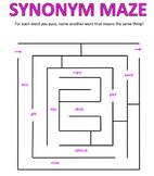 Synonym Word Mazes