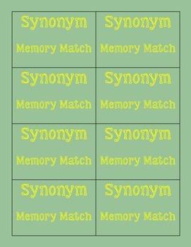 Synonym Memory Match 2